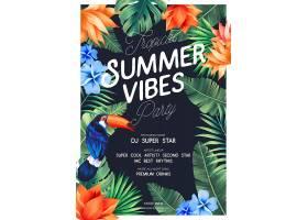 充满异国情调的热带夏日派对海报_47937050102