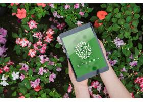 具有园艺概念的手持平板样机_36567580102