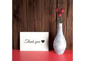 带花瓶的情人节卡片样机_36333040102