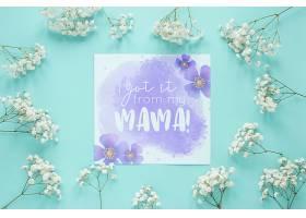 带鲜花的母亲节卡片样机_41839080102