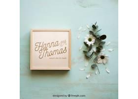 木盒样机和花瓣_16991650102