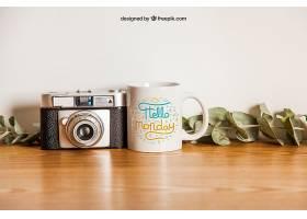 杯子样机和相机_12582260102