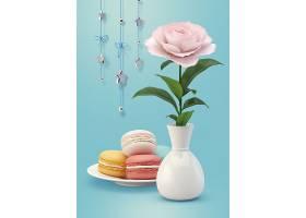 饼干鲜花和悬挂装饰品的组合_93746930102