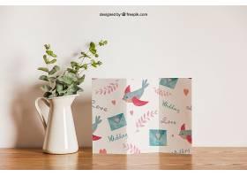 鲜花旁的三折纸_12584460102