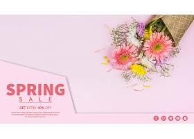 春季促销横幅模板_41505480102