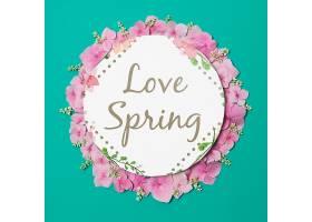 春季花卉圆纸模板_38815970102