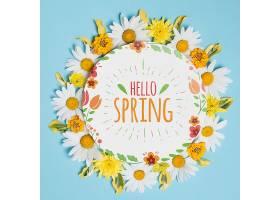 春季花卉圆纸模板_38815980102