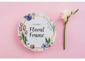 春季花卉圆纸模板_38816040102