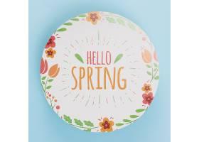 春季花卉圆纸模板_38816100102