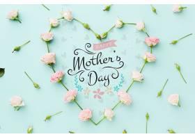 母亲节玫瑰心形俯视图_70118030102