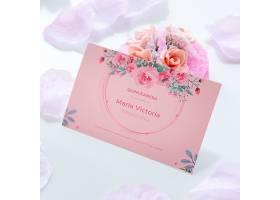 甜蜜十五的邀请函和一束鲜花_77393830102