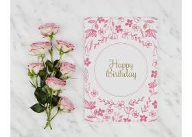 生日快乐卡片和玫瑰花_70734780102