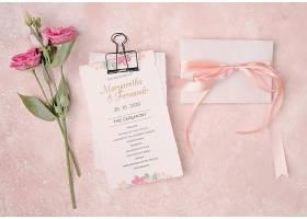 浪漫的鲜花婚礼请柬_64029400102