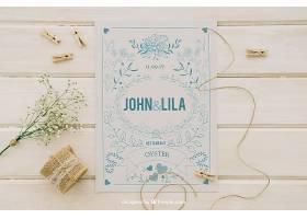 用婚礼请柬和装饰品模拟设计_12125850102