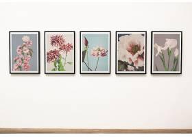 墙上的花卉艺术作品收藏_35748570102