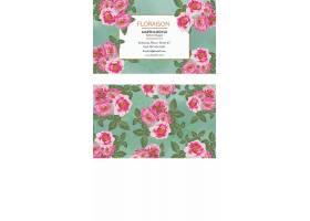复古花卉名片模板_27855780102