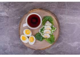 香草鸡蛋三明治和一杯茶_1277795701