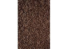 头顶垂直拍摄的咖啡豆非常适合背景或博客_985235001