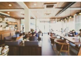 餐厅店铺内部背景模糊_104296401