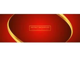 红色旗帜背景的抽象金色波浪_66135570101