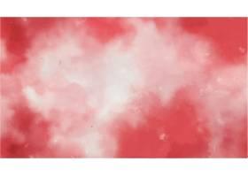 红色水彩纹理背景