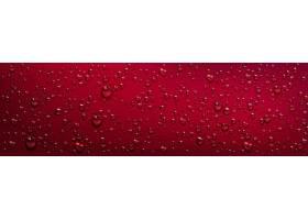 红色背景透明水滴_126204860101