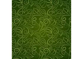 绿叶底纹背景