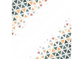 白色背景上印有五颜六色的三角形图案_40447920101