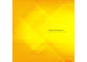 黄色背景带有多边形和半色调_9220310101