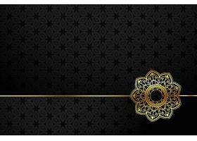 黑色和金色装饰性花样背景_91918140101