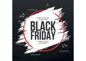 黑色星期五横幅带有抽象的笔触框架_109666300101