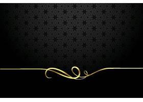 黑色背景上的金色书法漩涡边框_125728780101