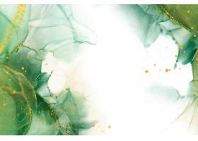 用闪亮的元素复制空间抽象的绿色背景_122358670101