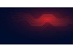 电路线路技术示意图背景为红色阴影_91067370101