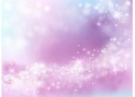 闪闪发光的天空紫色和蓝色背景与闪烁的星星_32666130101