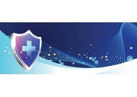 防护保健横幅背景