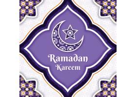 阿拉伯紫色文花纹装饰背景