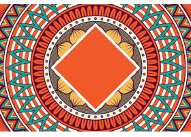 无缝图案复古装饰元素手绘背景_129204290101