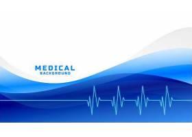 时尚的医疗保健背景蓝色波浪形_89985250101