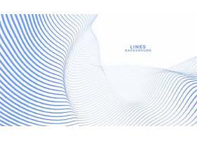 时尚的蓝色波浪线抽象背景设计_98742540101