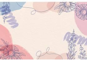 有创意的水彩画背景画有鲜花_126922910101