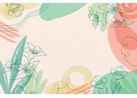 有创意的水彩画背景画有鲜花_126922920101