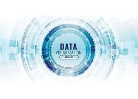 未来主义的数据可视化技术概念横幅_43505110101