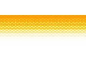 橙色和白色半色调图案横幅背景_66136300101