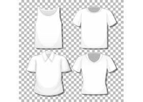 在白色背景上隔开的一套不同的白衬衫_127354780101