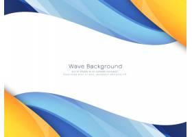 抽象的鲜艳多彩的波浪背景_32099650101