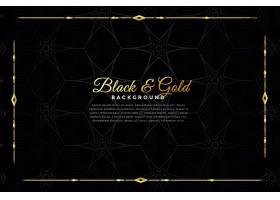 奢华的黑色和金色装饰背景_54321950101