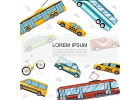 带公交车有轨电车无轨电车自行车汽_129099050101
