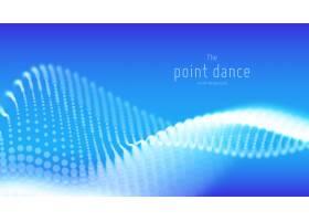 抽象蓝粒子波背景_112212580101