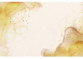 带有奢华金色口音的水彩画背景_117914810101